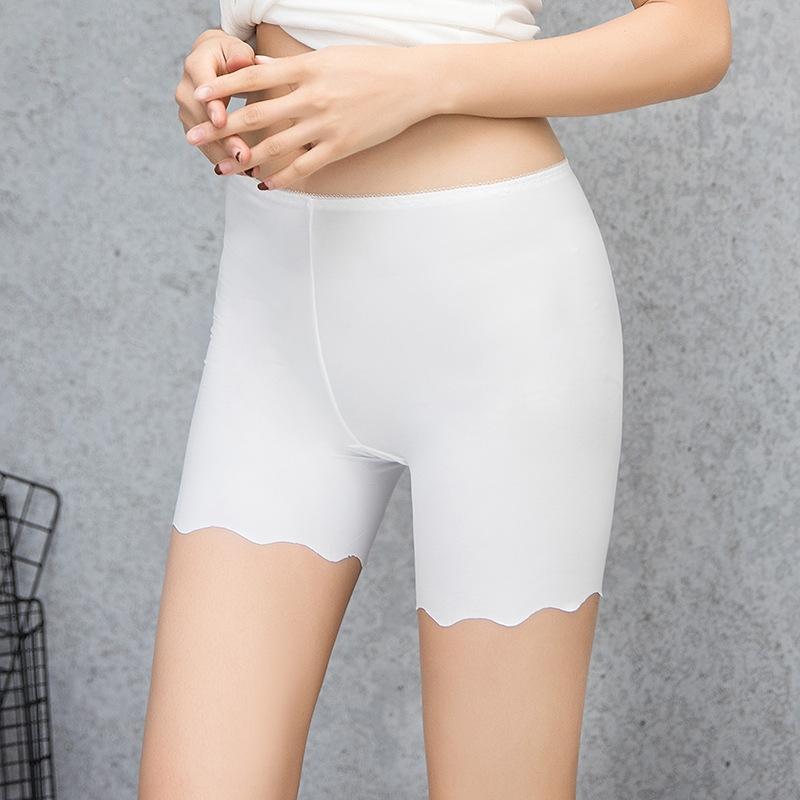 ZqRdt Sicherheit Ice WV0Cd Silk nahtlose 2020 anti-Exposition Sicherheitshosen des Sommers der Frauen groß mm dick Größe Drei-Punkt-Gamaschen dünne Versicherung Pfanne