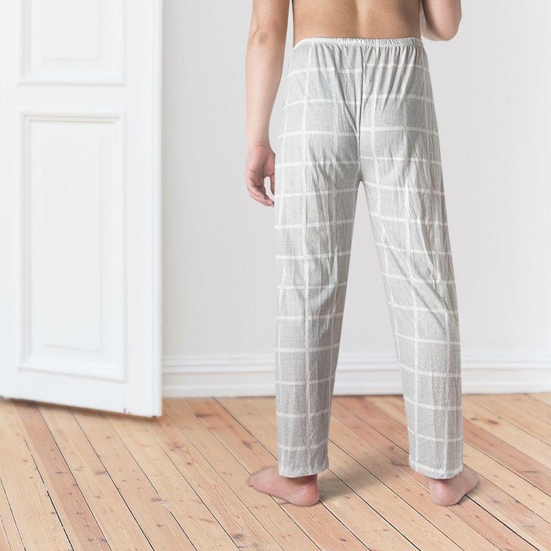kzSUh Saf Pamuk erkekler Saf ev Pamuk ev erkek pijama Casual pantolon rahat pantolon pijama