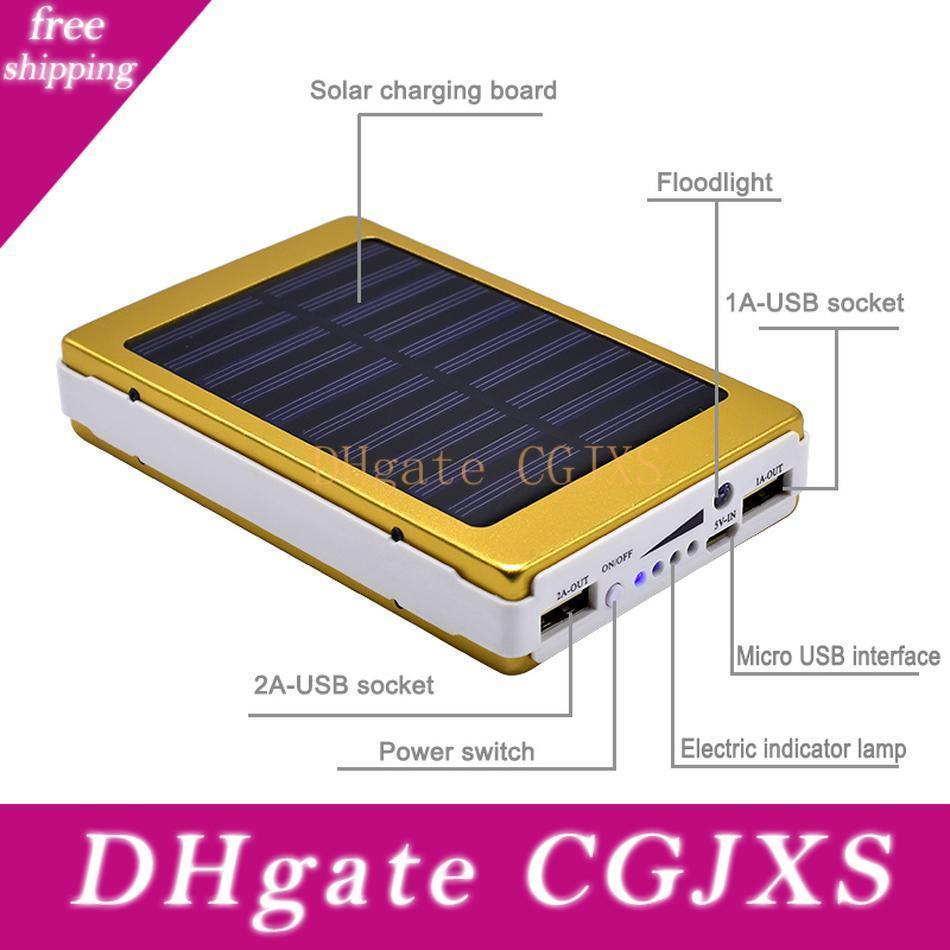 20 Led Lamps 20000mah Solar Power Bank Poverbank External Battery Power Charger For Smart Mobile Phones