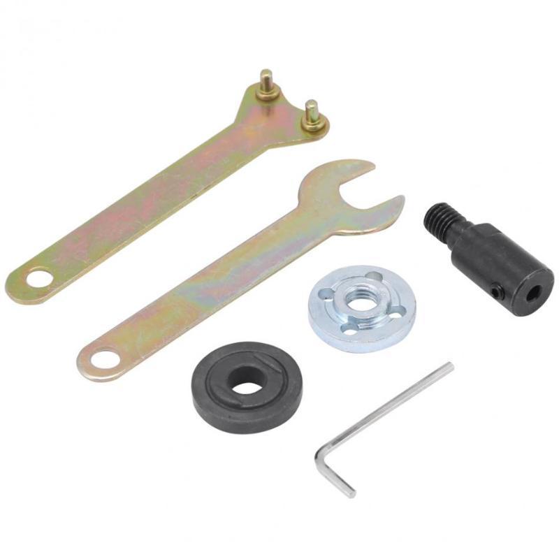 6pcs / set sega M10 manica chiave accoppiamento Strumenti Chuck adattatore rotonda Accessori albero motore accoppiatore a mano Set