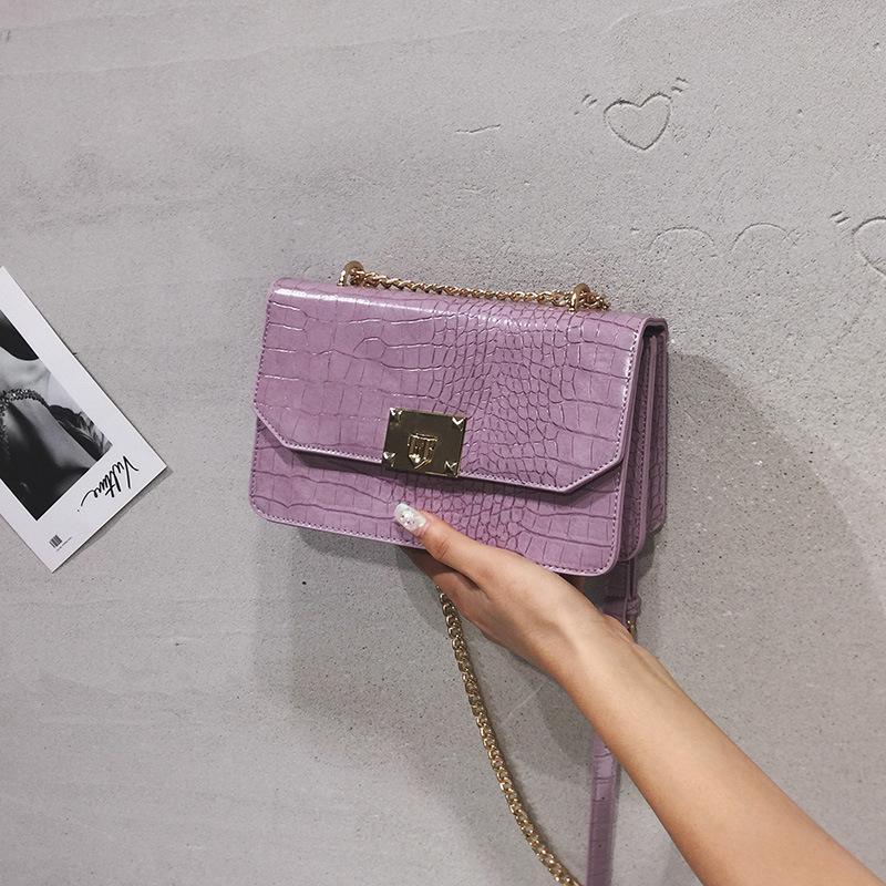 Крокодил шаблон площади сумка цепи посыльного сумки конструктора сумки и портмоне женские Клатчи Crossbody сумка для женщин Bolsas 2020