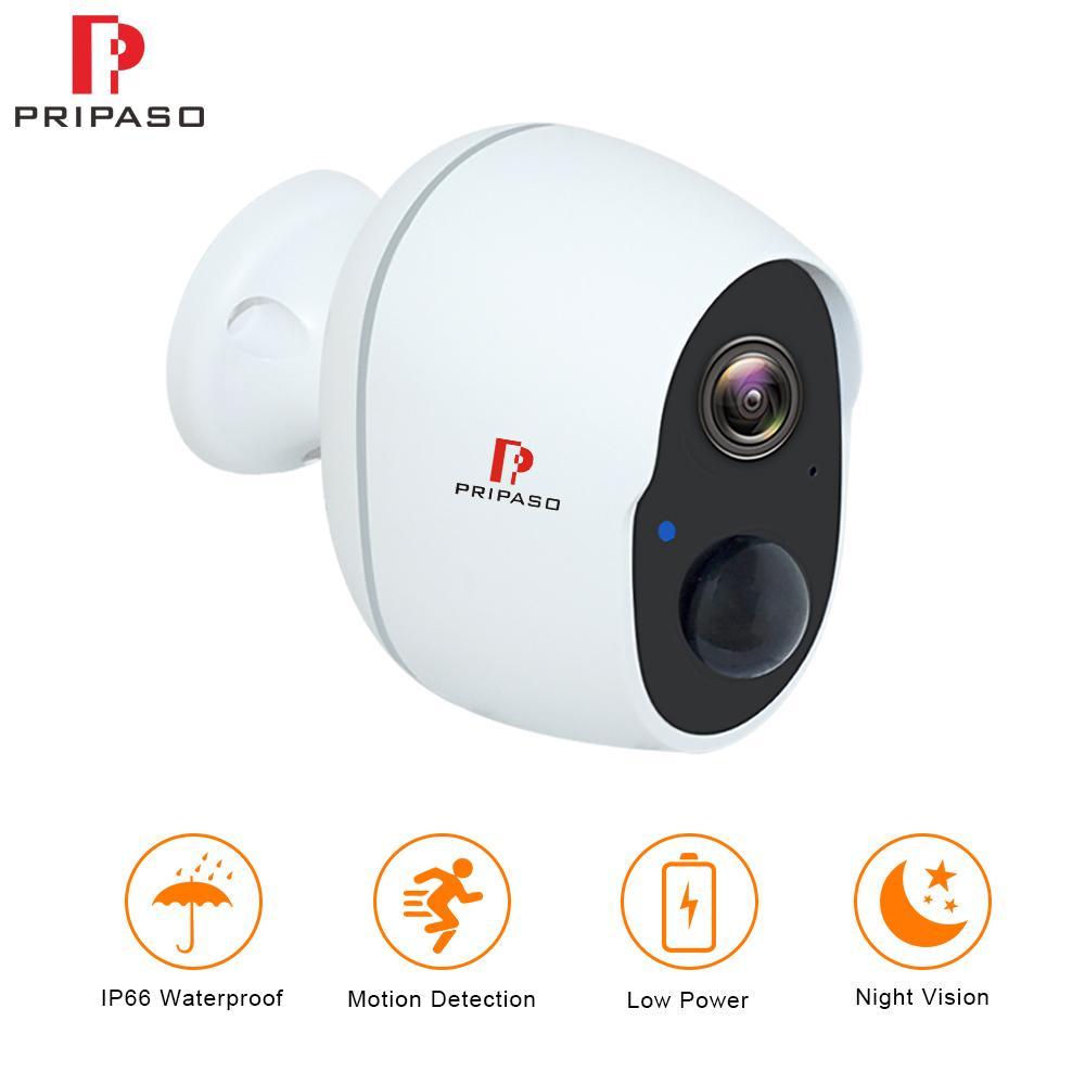 Con tecnología inalámbrica 1080p Batería IP CCTV Cámara impermeable al aire libre de cámaras de seguridad de la batería recargable Wifi Interiores