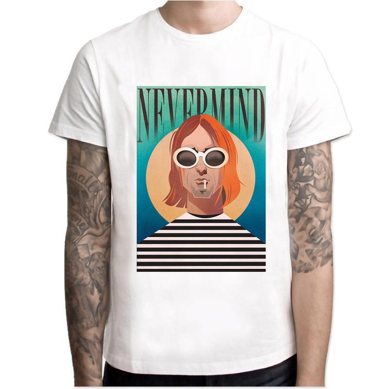 Nirvana T-shirt manica corta 2020 della stampa del modello T-shirt O-Collo Tops Moda Uomo tee shirt magliette 3XL