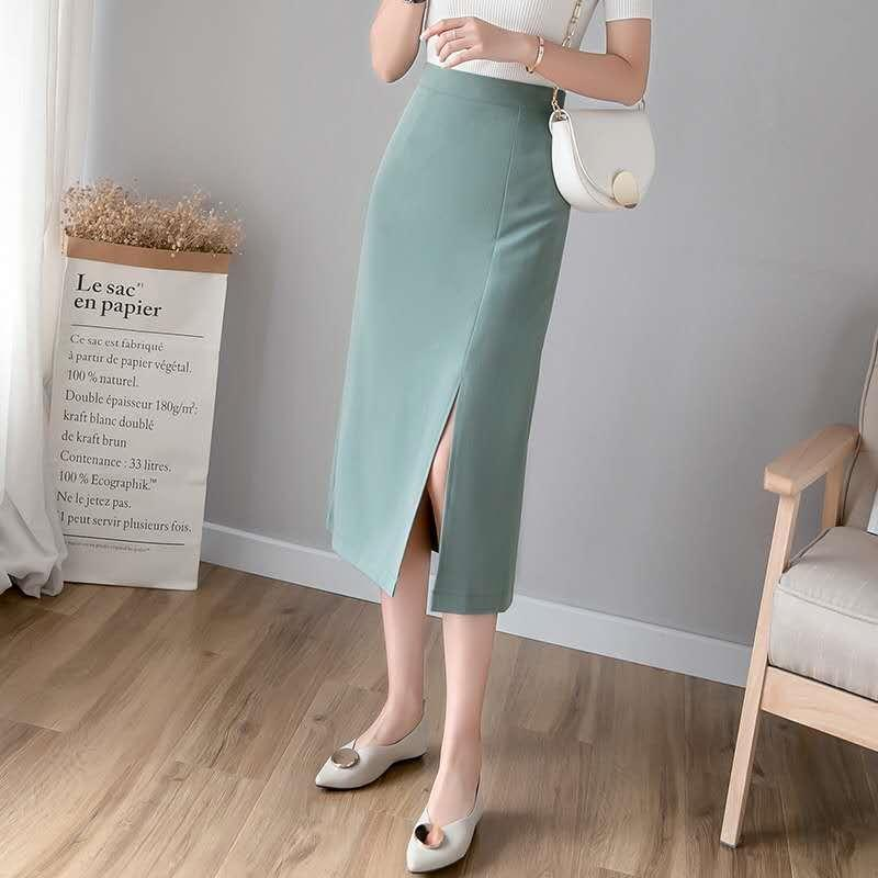 XA0ta Женская модная средней длина шика высокой талии раскол хип покрытая один шаг 2020 все соответствует новой юбка один шаг юбка