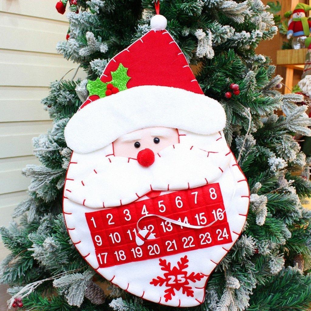 Рождественский календарь Адвента Карманы войлок Дети Гобелен Новогодние украшения отсчет Для дома Новый год Adornos De Navidad Wu2U #