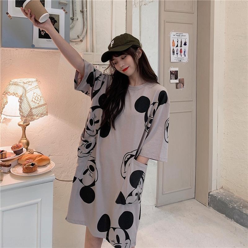 b0GAK 2020 verão nova das mulheres de mangas curtas Roupa interior T-shirt roupas ins moda namoradas estudante roupas tamanho grande solta medi 200 jin