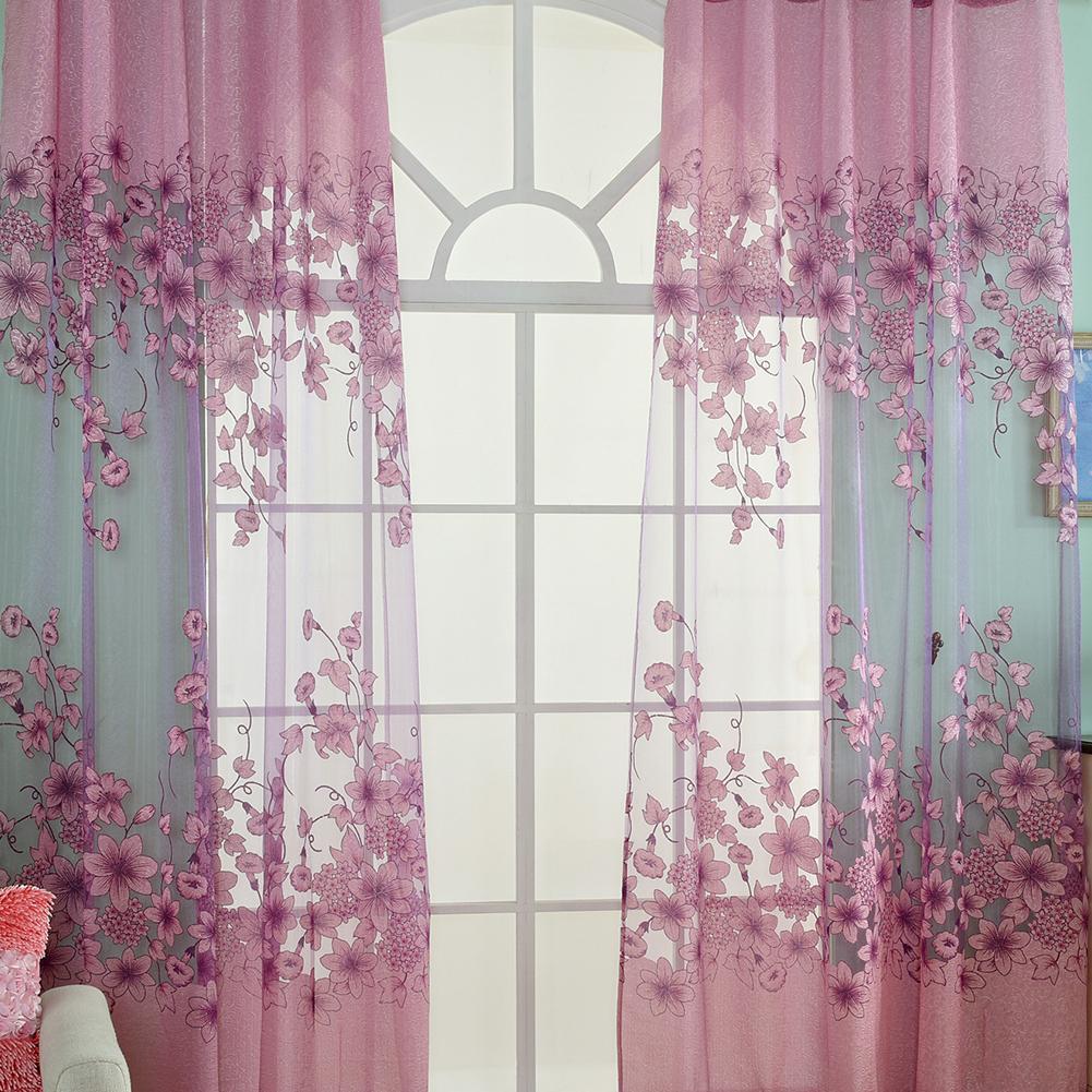 Lily Muster halbVerdunklungsVorhänge Küche Vorhänge Fenster Wohnzimmer Wohnzimmer Dekor Vorhang
