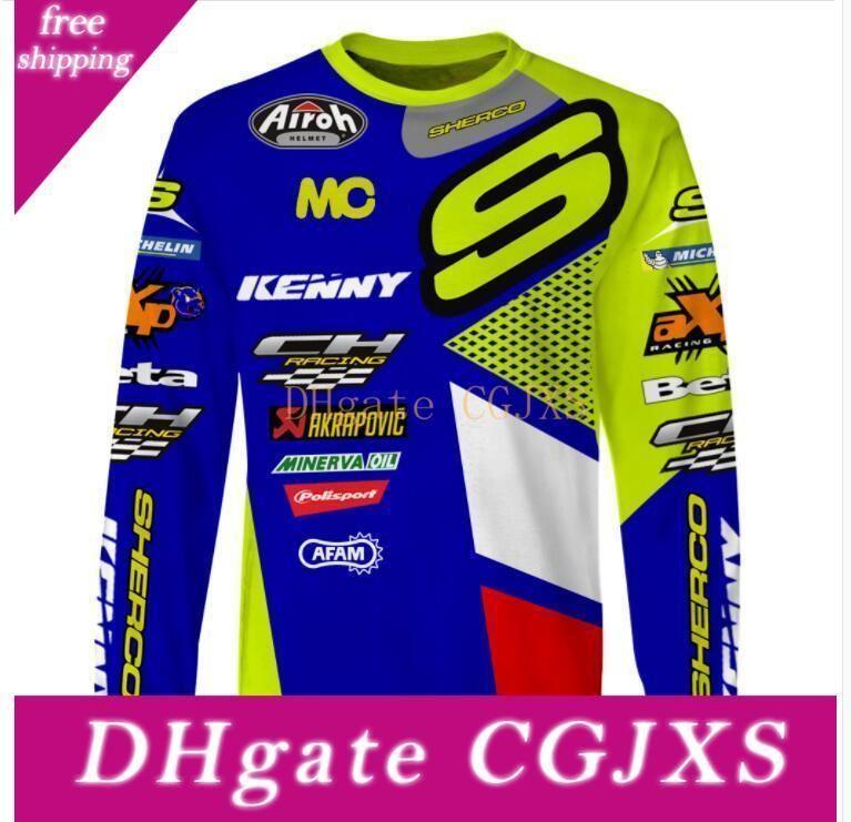 Verão New Kenny Downhill Suit Sherco Ciclismo Suit Jacket Mountain Bike Off -Estrada Motos Custom T -Shirt