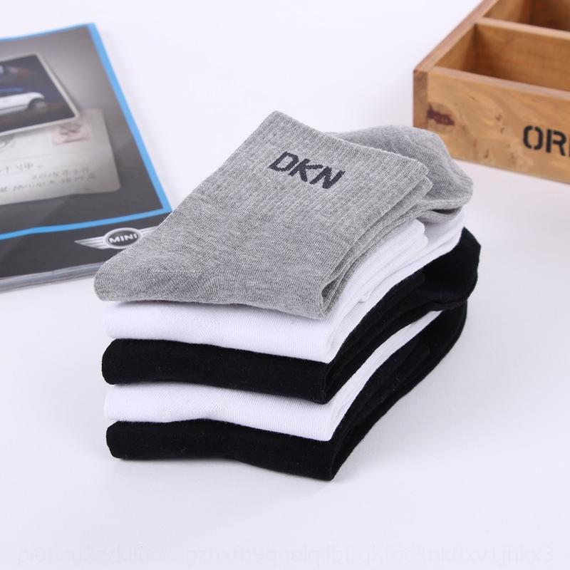 chaussettes 4gnYF et des affaires nouvelles de sport en coton et printemps mi-jambe respirant chaussettes pour hommes solides sueur absorbants coton couleur d'été