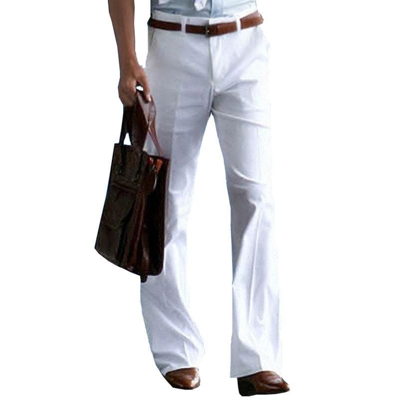 Compre Pantalones Formales Pantalones Acampanados Pantalones De Vestir 2020 De Los Nuevos Hombres Bell Bottom Traje Pantalon De Danza Blanca Formal Para Los Hombres El Tamano 37 A 28 97 Del Kaiyanqia Dhgate Com