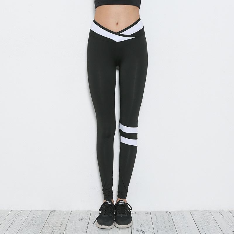 новый тонкий Corio спорт осень леггинсы крест Йога для женщин узкие брюки йоги узкие брюки T0I6g
