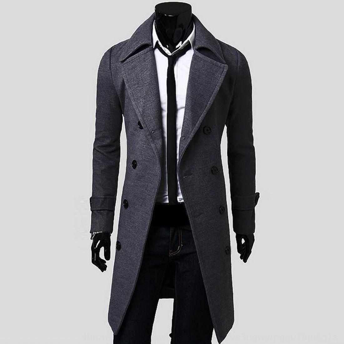 NJ7Hg l2abE M-XXXL утолщенной стиль мужская мода мужская футболка с длинным ан 5625 M-XXXL пальто моды шерсти Wool Европейский Европейский стиль длинные шерстяные сгущать