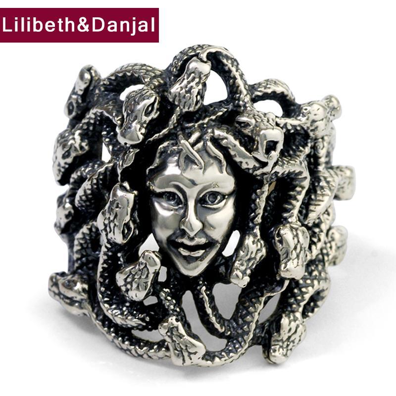Iniziale Anello 100% Pure 925 Thai argento del serpente bellezza Vintage roccia punk monili registrabili anello degli uomini 2020 nuovo arrivo R38