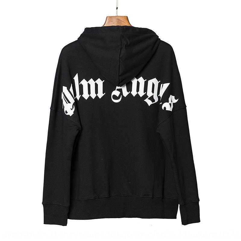 slmTz palma Escudo encapuchado Ángel Ramos con capucha clásica de la estrella de gran tamaño suéter del hip-hop con capucha abrigo suelto
