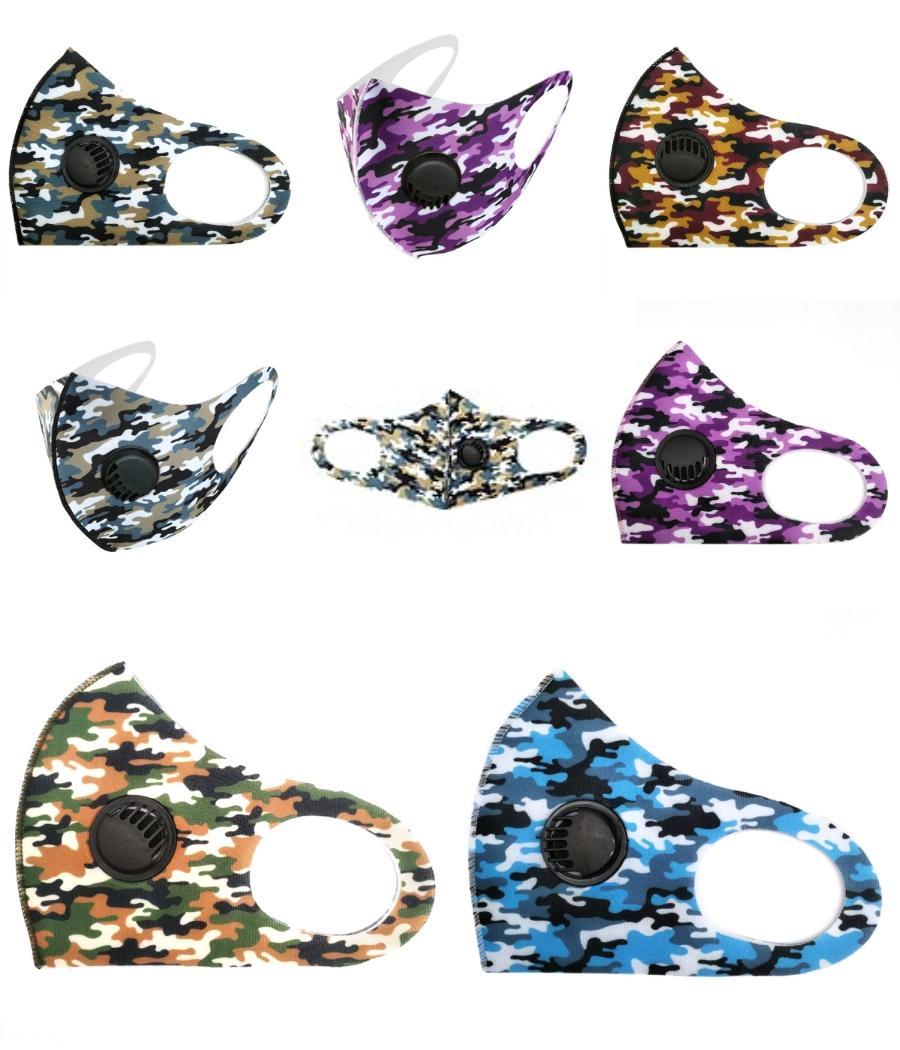 Viso 5 strati maschere del fumetto doppio filtro di protezione della valvola di sfiato riutilizzabile lavabile bambini più sicuro maschera di protezione PM2.5 # 470