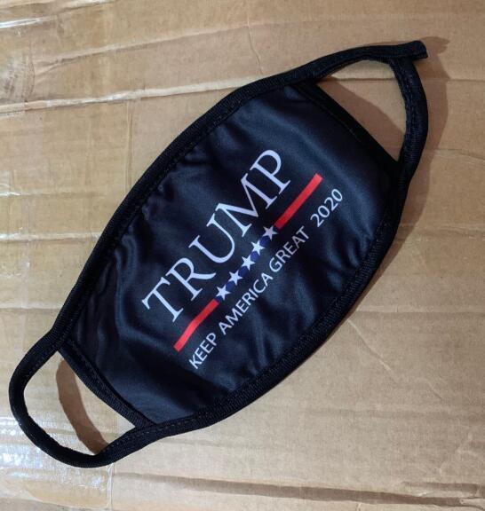 18styles Trump visage Masque Coton Trump Masques 2020 Tissu anti-poussière Masque Homme Femme Mode unisexe hiver chaud Masques drapeau noir US GGA3546-13