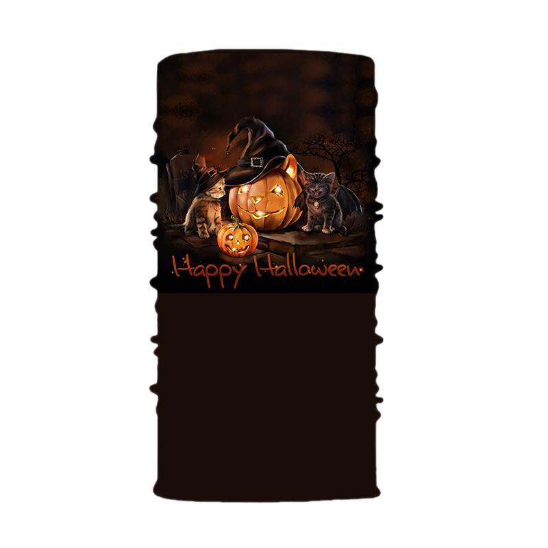 Halloween magique Turban Bandeaux Masques de visage de citrouille Skeleton Sports de plein air Masque fantôme Echarpes Bandeau vélo Visage Masques Parti EWF1101
