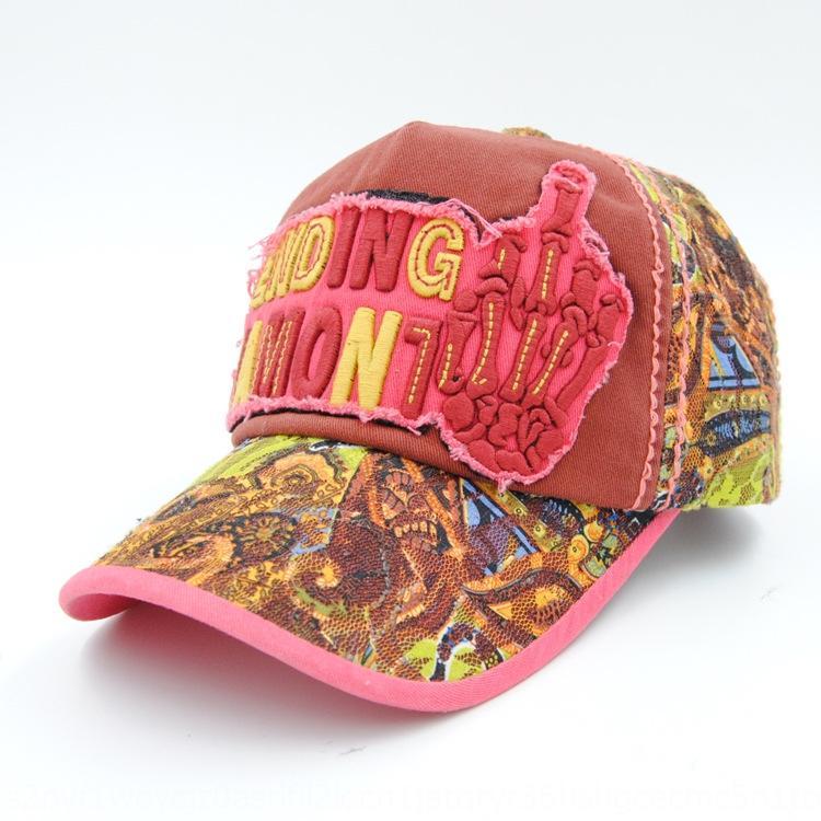 mão no ombro chapéu bordado rendas atingiu o pico primavera cap boné de beisebol e verão chapéu de sol proteção do sol de mulheres coreanas Pointed Baseball