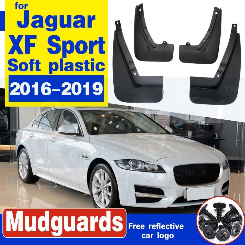 4 PCS avant arrière voiture bavettes pour le sport Jaguar XF 2016 ~ 2019 Fender BOUE Garde Rabats Garde-boue Garde-boue Accessoires
