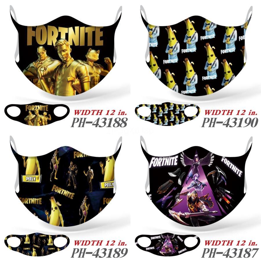 Favor de partido Negro FaceFortnite MasksBreathable lavable PartyFortnite Masksboom2020 # 697