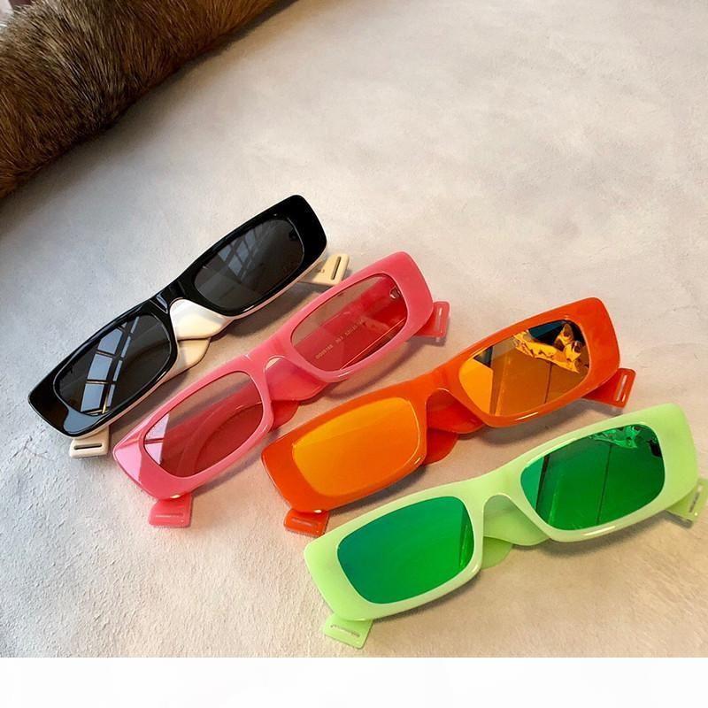 0517 fluorescente al neon ovale verde Slim Occhiali da sole 0517S des lunettes de soleil 52 millimetri Unisex Moda Occhiali da Sole Nuovo con scatola