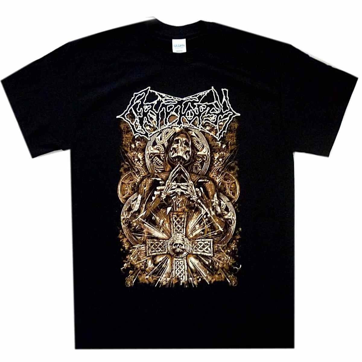 Cryptopsy Monk shirt officiel T-shirt mort de bande en métal T-shirt New New T-shirt de mode d'hommes T-shirts T-Top