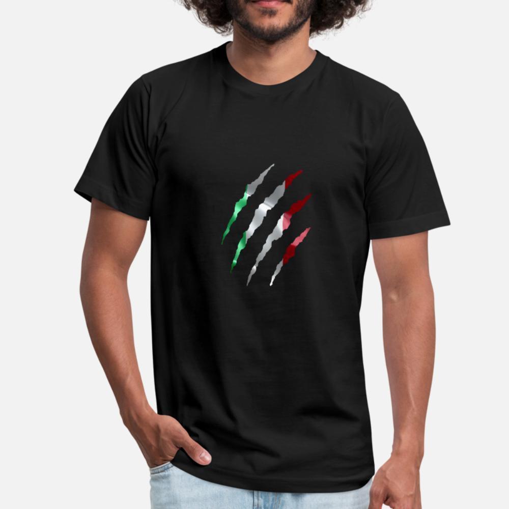 Bandeira Itália camiseta homens italianos Impressão 100% algodão, mais Padrão camisa Anti-rugas Edifício Primavera Outono Original tamanho 3xl