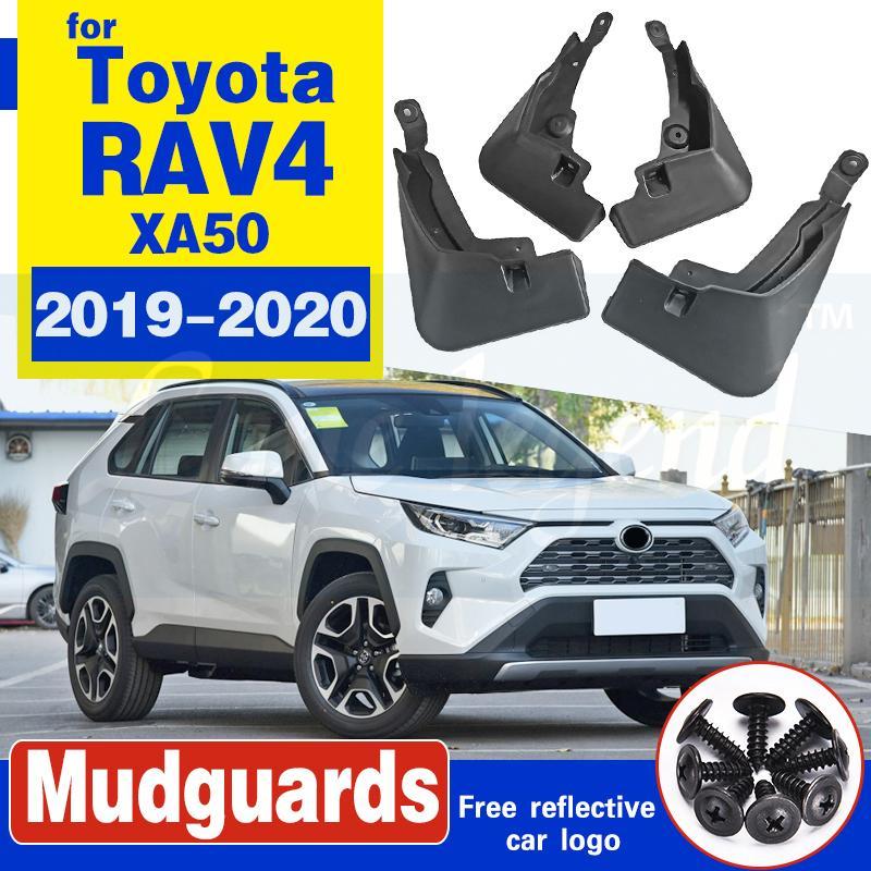 4pcs voiture boue boue Splash FLAPS Guards Garde-boue arrière noir automatique avant boue Rabats Garde-boue Garde-boue pour Toyota RAV4 RAV 4 2019 2020