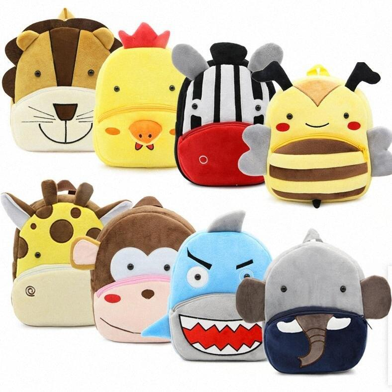 30style Crianças Stuffed Plush Backpack criança Animal dos desenhos animados Mochilas Kindergarten Schoolbag Baby Unicorn Tiger Bolsas de Ombro GGA3527 4 WB88 #