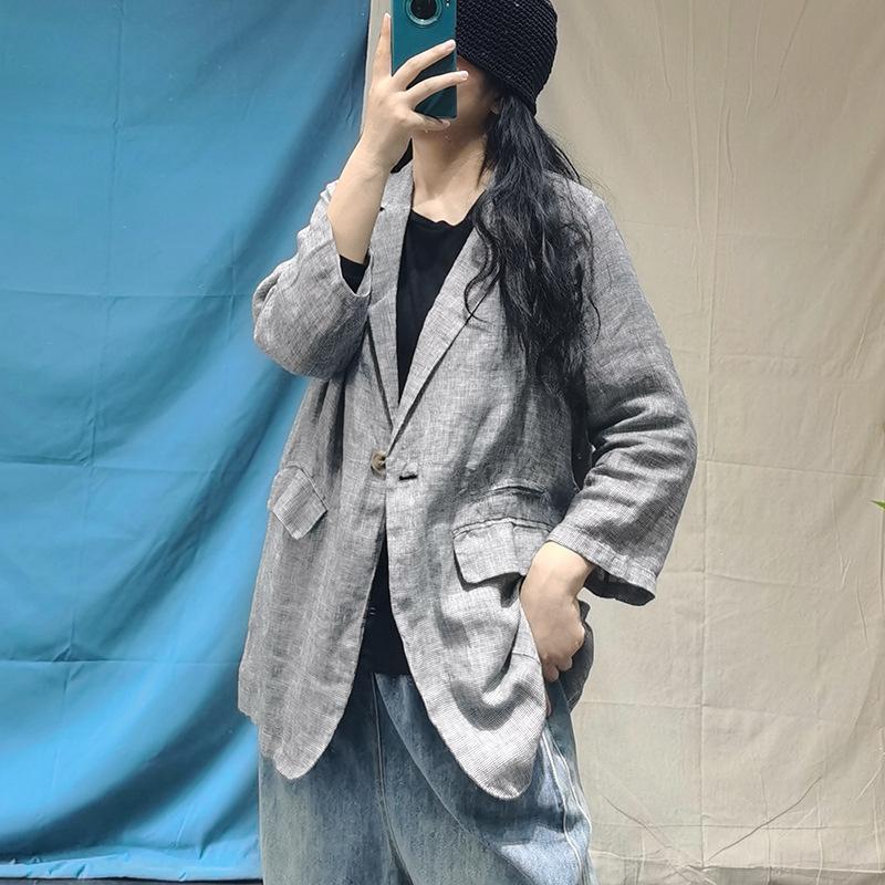 2020 estilo de otoño e invierno Nueva Corea elegante estilo del pájaro abrigo suelto Escudo del todo-fósforo de lino de juego pequeño para las mujeres dBzdN