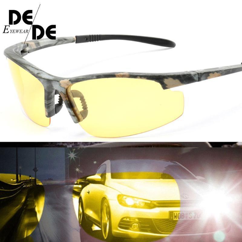 Rimeless Neues Autofahren 2020 Sonnenbrille Polarisierte Nacht HD Mode Männer Brille 1041 Gelbe Linse Goggles Gafas Vision Ltchr