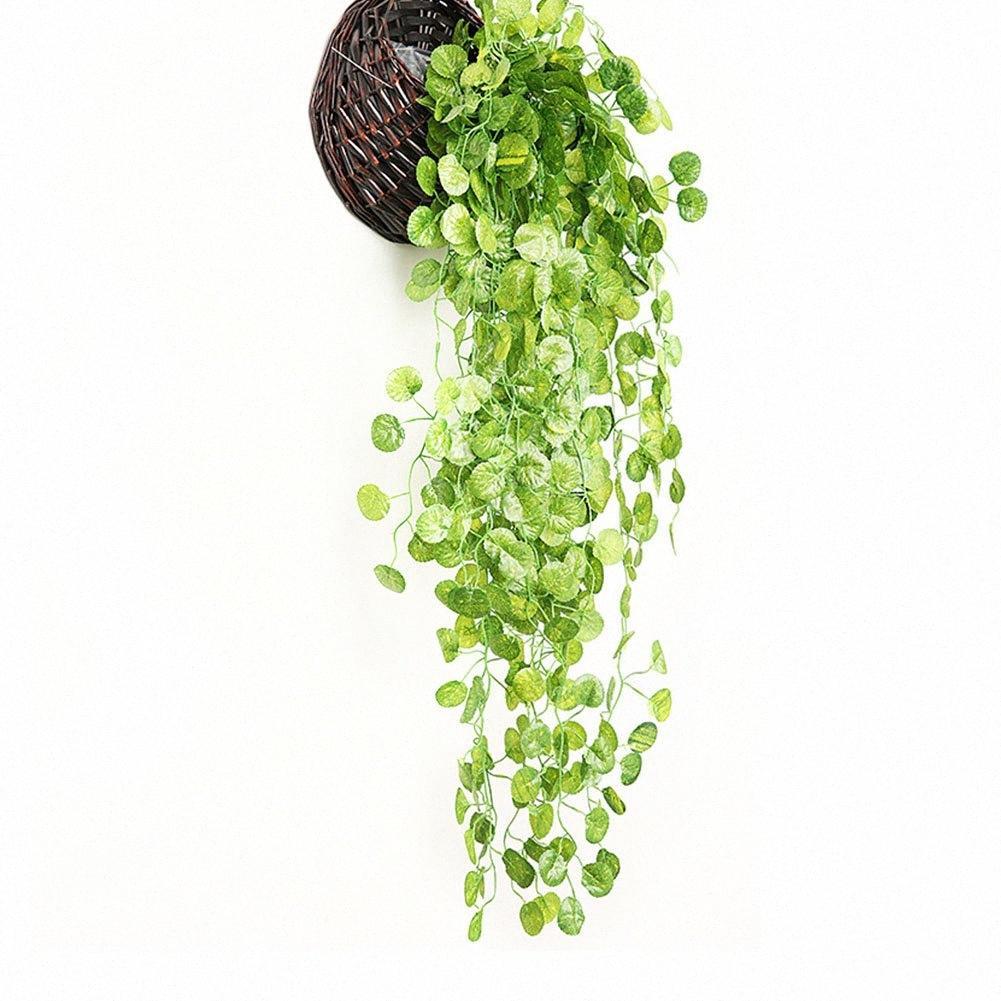 Ev Dekorasyonu Hotel Garden Firar Restoran Parti Uwnn # Asma 2PCS Yapay Bitki DIY Ivy Yapraklar Garland Yeşil Düğün Duvar