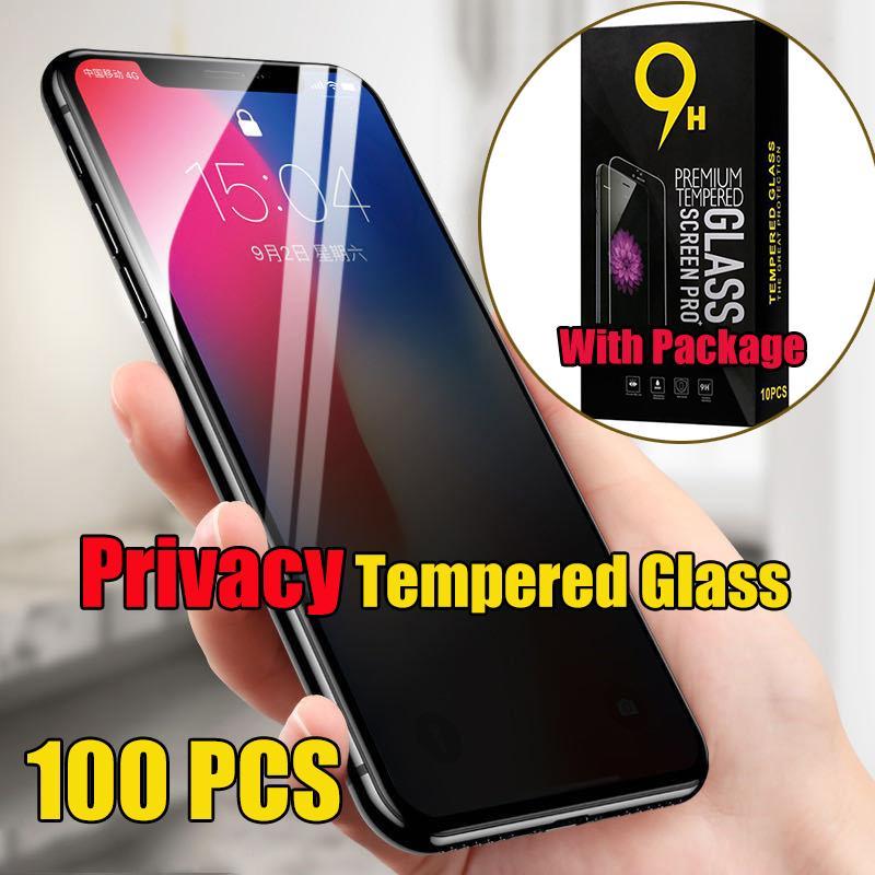 Gizlilik Temperli Cam Özel Ekran Koruyucu Premium Film Guard Kavisli Kapsama Kapak Kalkanı iPhone 13 Pro Max 12 Mini 11 XS XR X 8 7 6 6 S Artı SE ile Pacakge