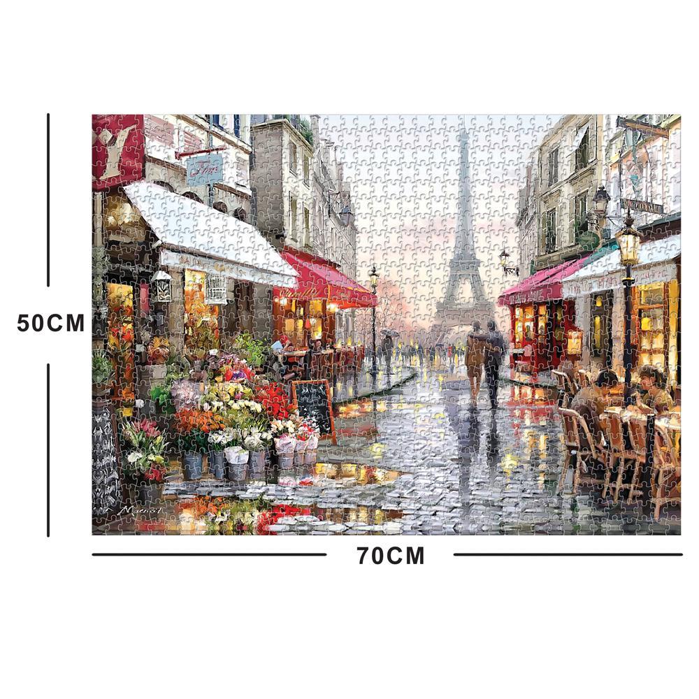 Le magasin de fleurs sous la Tour Eiffel Pièces Puzzles / puzzle adulte