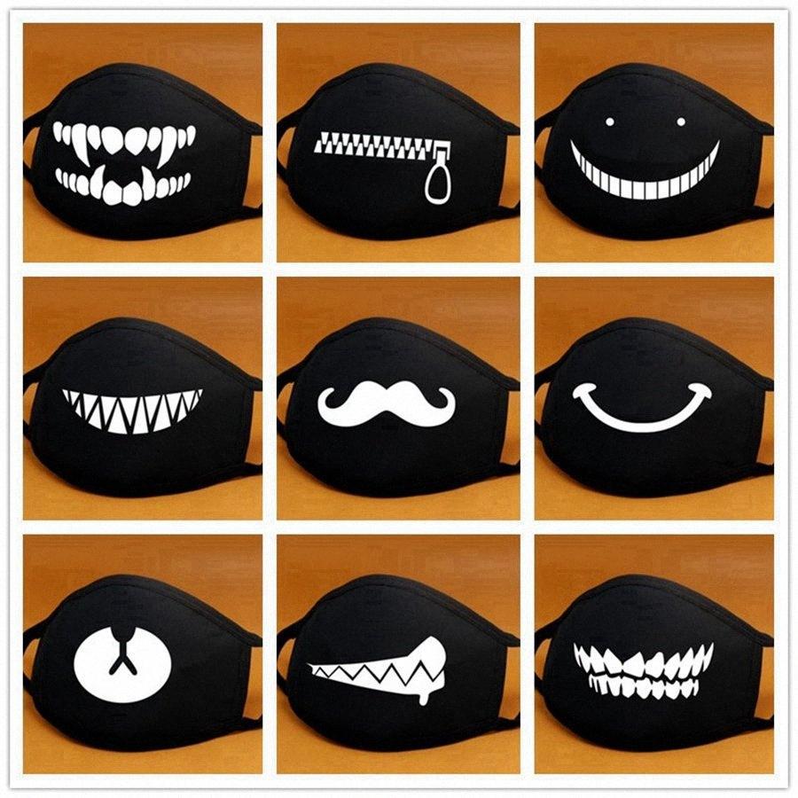 Cartoon Coton Masque bouche noire anti-poussière Anti Pollution Masque Respiratoire Mode Ours Mignon Kpop Masques bouche visage animaux RRA3194 fFcf #