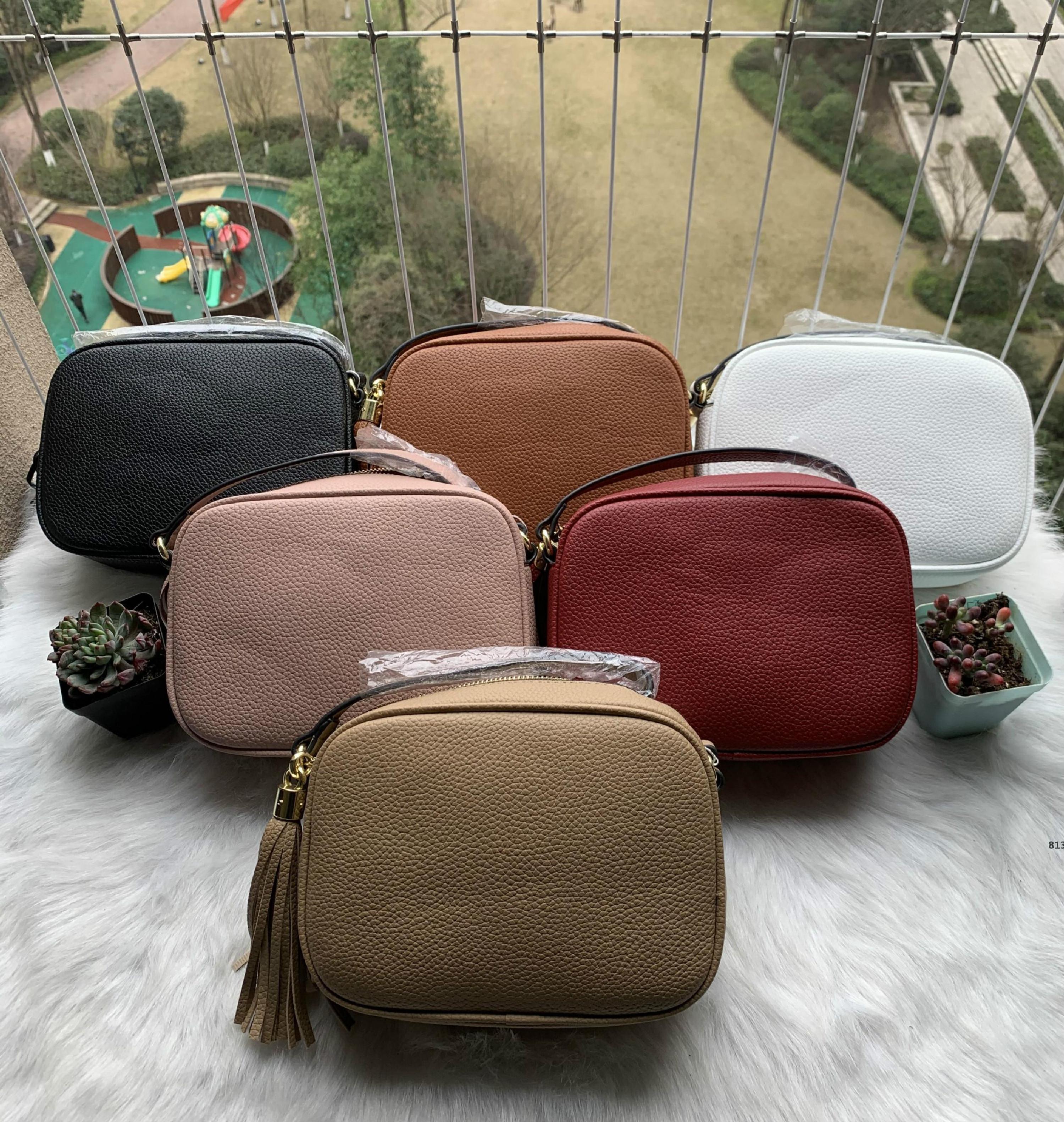 Neue Stil Staub mit hoher Mode Frauen Handtaschen Quaste Soho Bag813 Disco Womens Leder Geldbörse Tasche Qualität Tasche Schulter KMVAQ