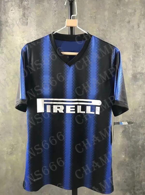 Derniers conseils INTER MILAN top rated chemise de serpent dans 10/11 saison Retro San Siro J.Zanetti manches longues et courtes Nerazzurri