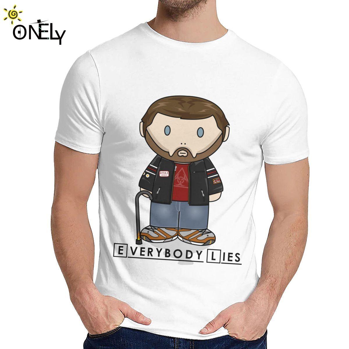 Dr House MD Все Lies Minifolk T Shirt Мода Crewneck Повседневный унисекс 100% хлопок плюс размер футболку