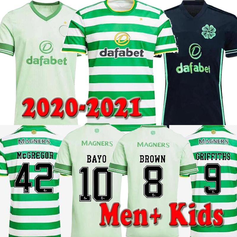20 21 Celtic fc Soccer Jerseys MCGREGOR GRIFFITHS 2020 2021 Klimala FORREST BROWN ROGIC CHRISTIE EDOUARD Home Men + kids Football Shirts