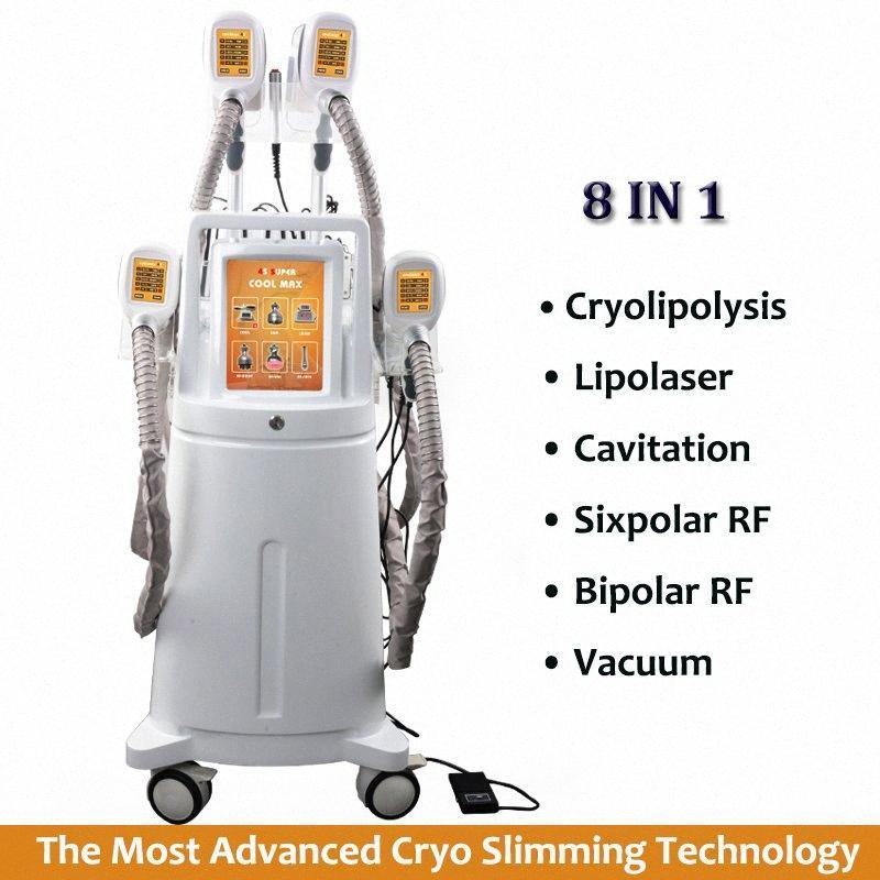 8 en 1 Remoción Lipo láser de grasa corporal vacío Lipo tratamiento criolipólisis Cavitaiton RF que adelgaza pérdida de peso de la máquina Contorno Corporal Cavi dCjW #