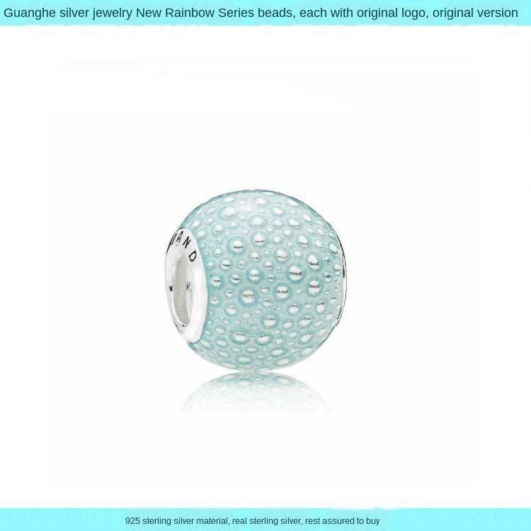 de las mujeres de bricolaje brazalete de perlas de materiales puros cadena adornos de joyería de bricolaje de plata de la joyería ornamentos colgantes accesorios de plata del resorte del arco iris Nuevo