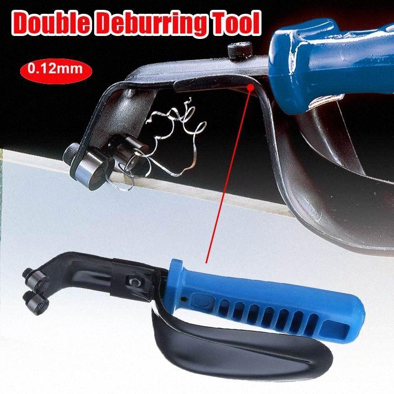 Handheld doppio foglio metallo portatile sbavatura strumento Con Guardia 1-12Mm lame, professionale Burr Taglio lama del cutter XwOo #