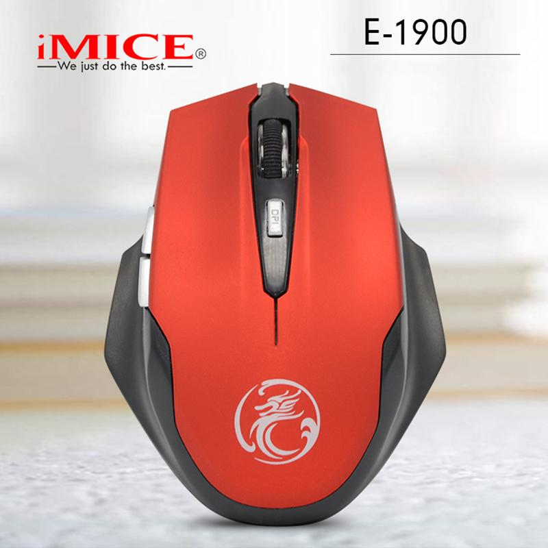 iMice ergonomico 2.4GHz 6 Pulsanti opto-elettronico Wireless Mouse Cordless PC Computer Gaming Mouse Mouse Computer Office