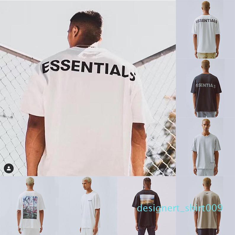 2020 FFOG T-Shirt FEAR AUS GOTT ESSENTIALS BOXY Photo T-Shirts Übergrößen T-Männer Frauen-Qualitäts-Baumwoll-T-Shirt d09