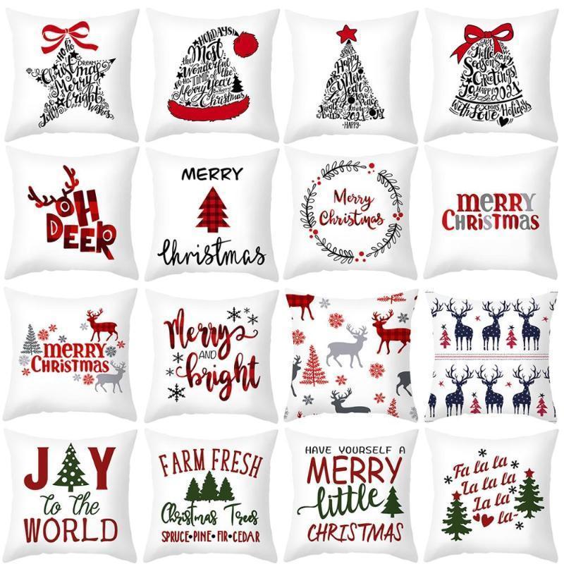 45x45cm Karikatur Weihnachtsmann Elk Weihnachten Pillowcase 2020 Weihnachtsdekor für Heim Frohe Ornament Navidad Weihnachtsgeschenke