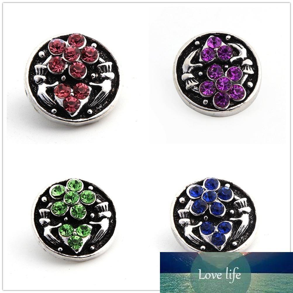20pcs/lot 18mm fashion circular shape crystal Charm snap Button Cufflinks Antique Silver diy Jewelry Retro Metal Ginger Snap fit Bracelets