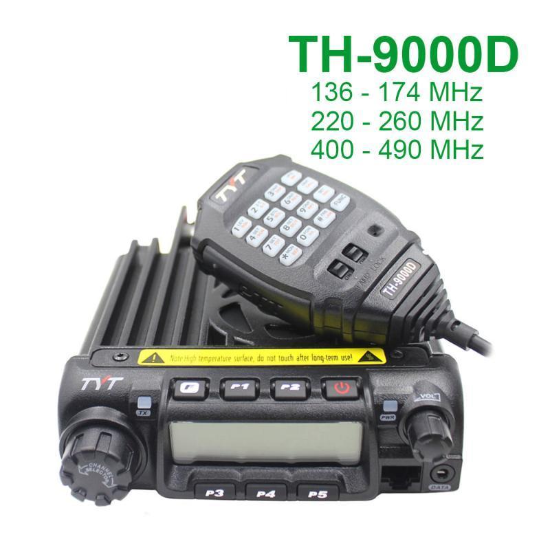 La última versión de TYT TH-9000D Radio Móvil 200CH 60W Super Power Alto / Medio / Bajo seleccionable potencia de walkie talkie