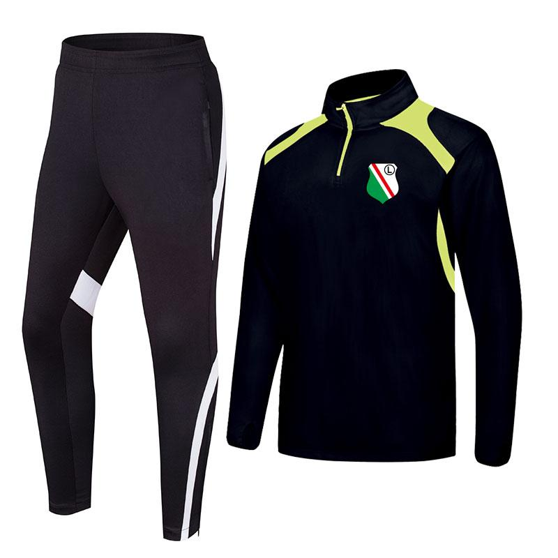 Legia Warszawa 2020 roupas de treinamento de futebol de primavera e outono nova jaqueta longa podem ser esportes dos homens personalizados DIY treinamento roupas