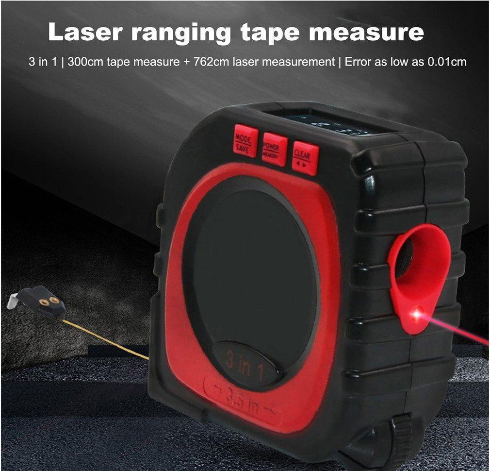 Misurare Digital Distance Measuring Tape modalità Cavo Di Infrarosso strumento Gauge Finder multifunzione laser Meter Rotolo qqds YYzIU 3-in-1
