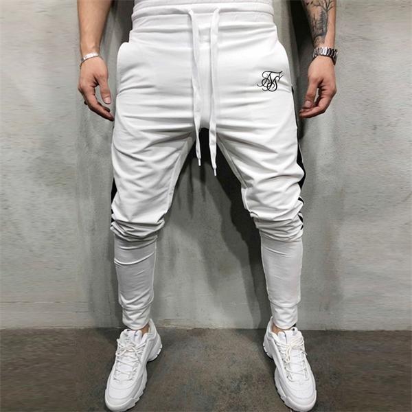 SikSilk hombres jogging Deporte Sweatpants Correr Pantalones GYM Pantalones Hombres chándal de algodón Trackpants del ajustado de los pantalones pantalones de culturismo